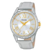PG2007 Leather Ladies Watch - Silver Dial