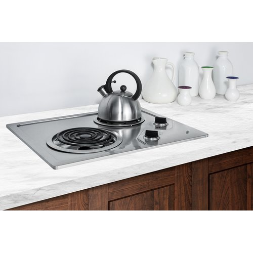 summit appliance sumit electric cooktop with 2 coil burners - Electric Cooktop