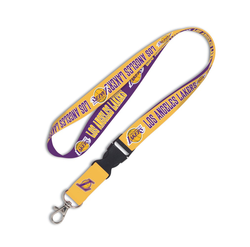 Los Angeles Lakers Official NBA 20 inch  Lanyard Key Chain Keychain by Wincraft