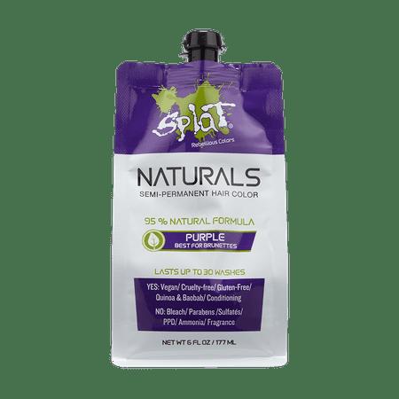 Splat Naturals 30 Wash Semi-Permanent Hair Color Purple 6