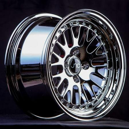 JNC 001 Platinum 15x8 4x100 ET25 Offset Wheel Rim