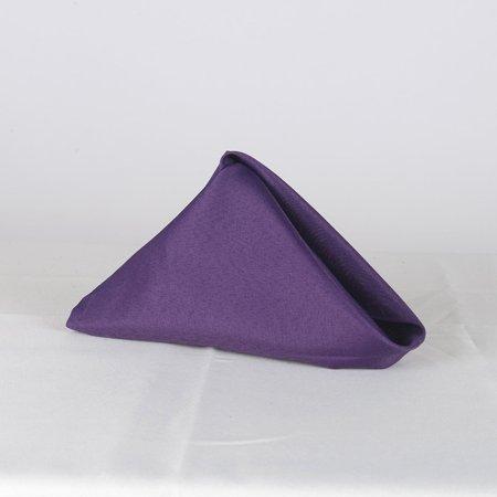 Plum- 20 x 20 Polyester Napkins - ( 20 x 20 - 5 Pieces | 5 Napkins )](Plum Napkins)