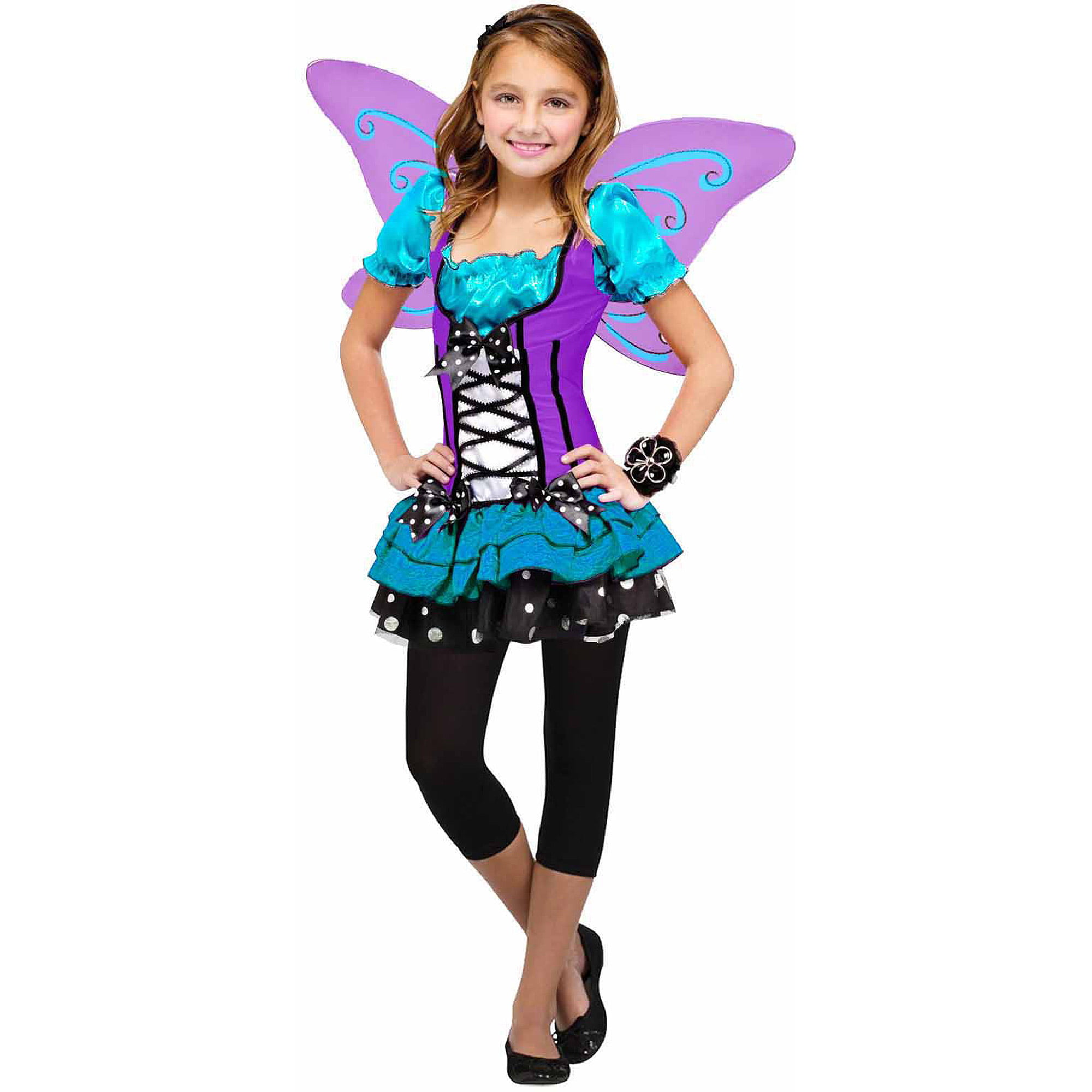 blue purple butterfly girls dress halloween costume walmartcom