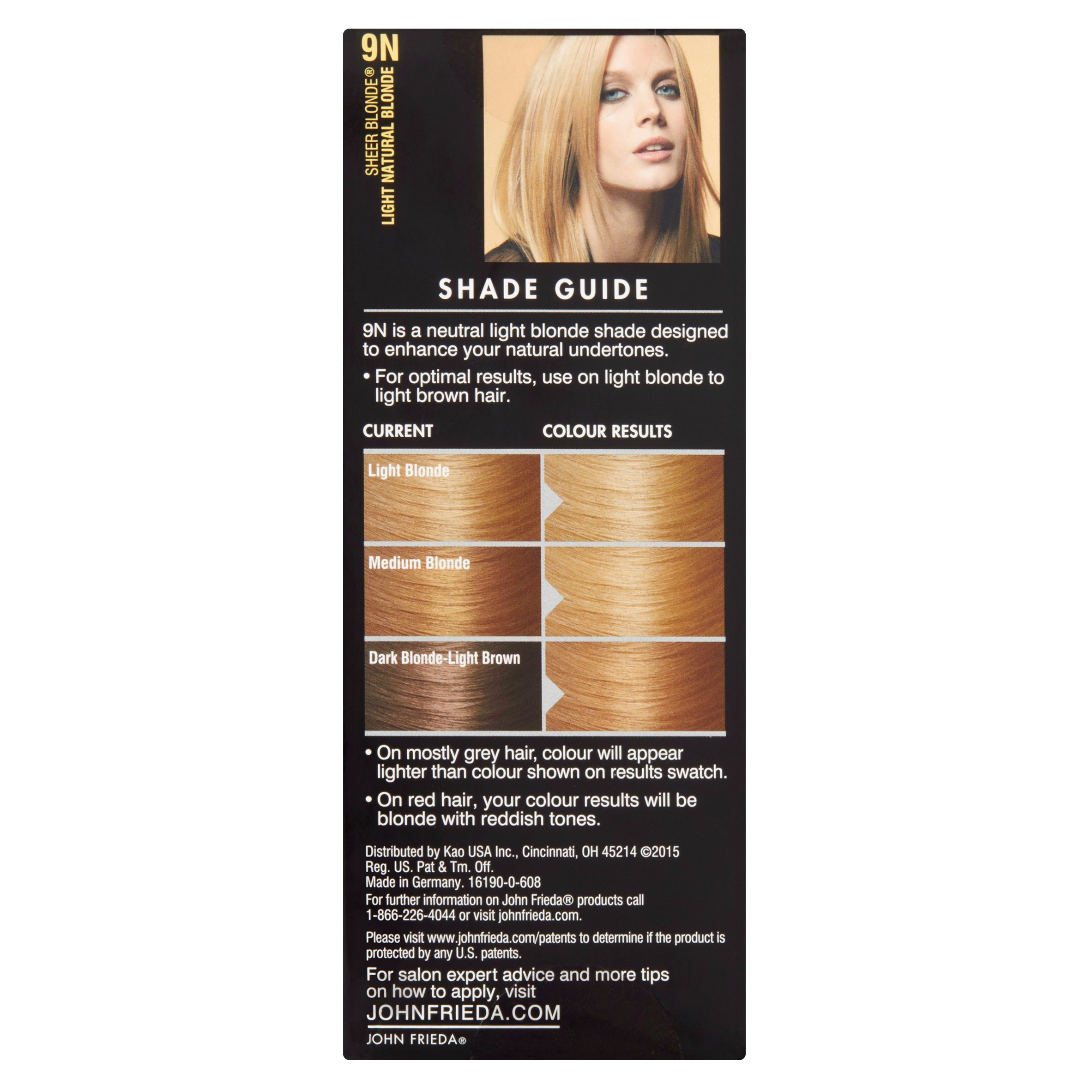 John Frieda Sheer Blonde 9n Light Natural Blonde Precision Foam