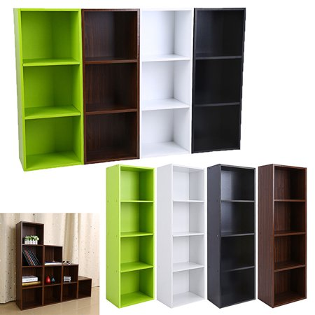 3/4 layers Bookcase Storage Furniture Bookshelf Bedroom Wood ()