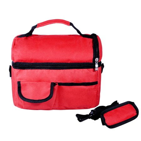 Insulated Waterproof Thermal Shoulder Picnic Cooler Storage Box Tote Lunch Bag Carry Tote for Taking Lunch