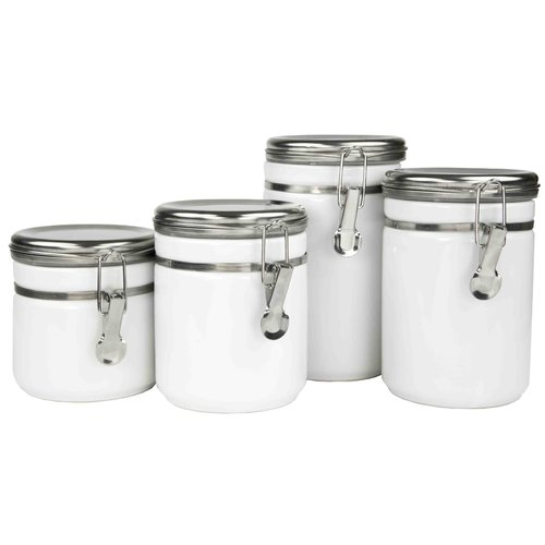 Home Basics 4 Piece Kitchen Canister Set