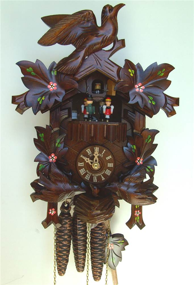 1-Day 9.1 in. Black Forest House Cuckoo Clock by Schneider Cuckoo Clocks