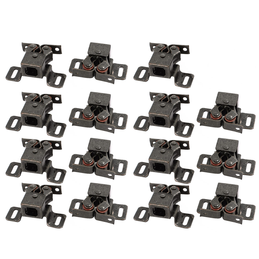 Cupboard Cabinet 46x30x20mm Door Double Ball Roller Catch Latch Bronze 15pcs