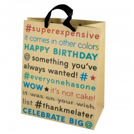 Bulk Buys BH464 108 Birthday Editorial Craft Paper Gift Bag44 Large