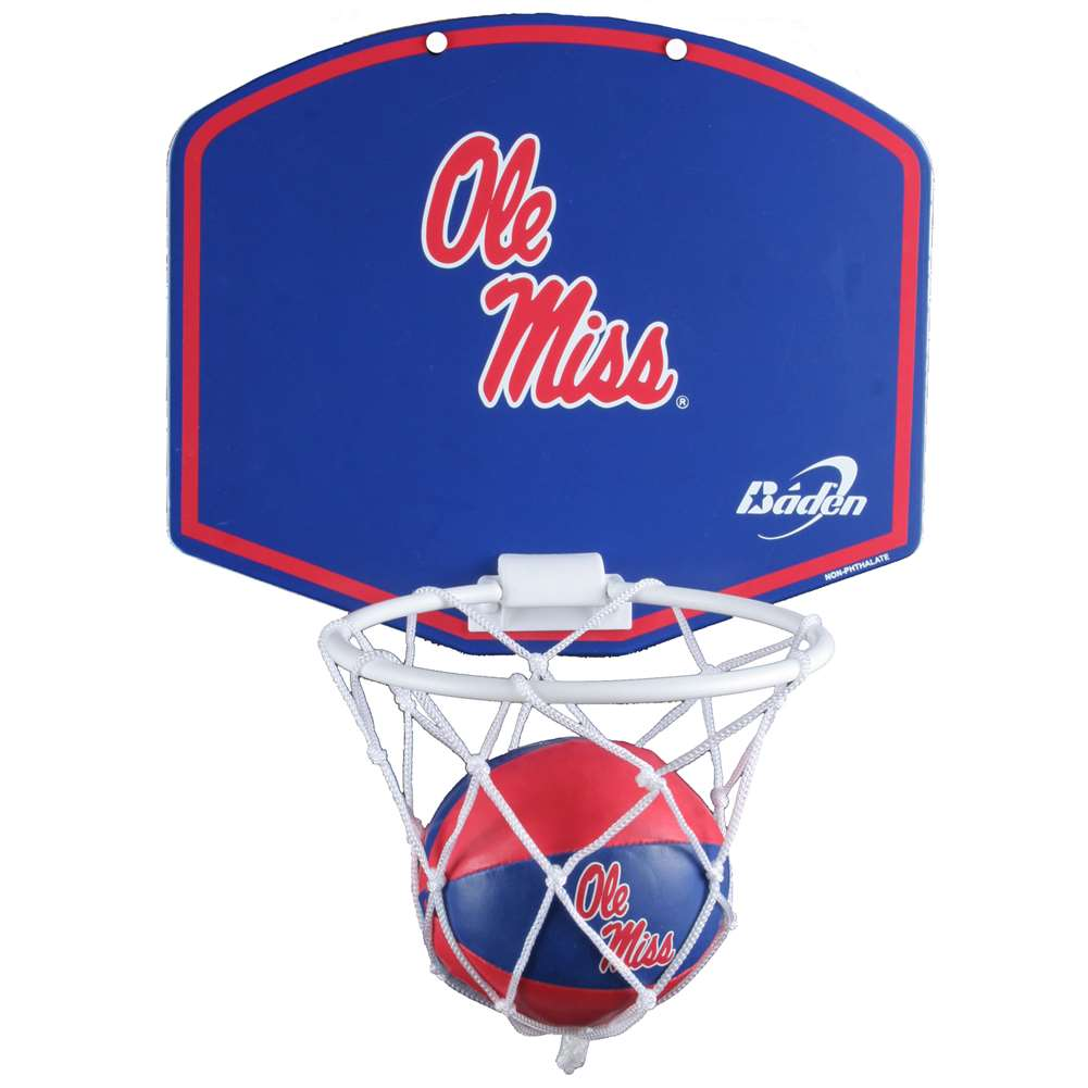 Mississippi Ole Miss Rebels Mini Basketball And Hoop Set