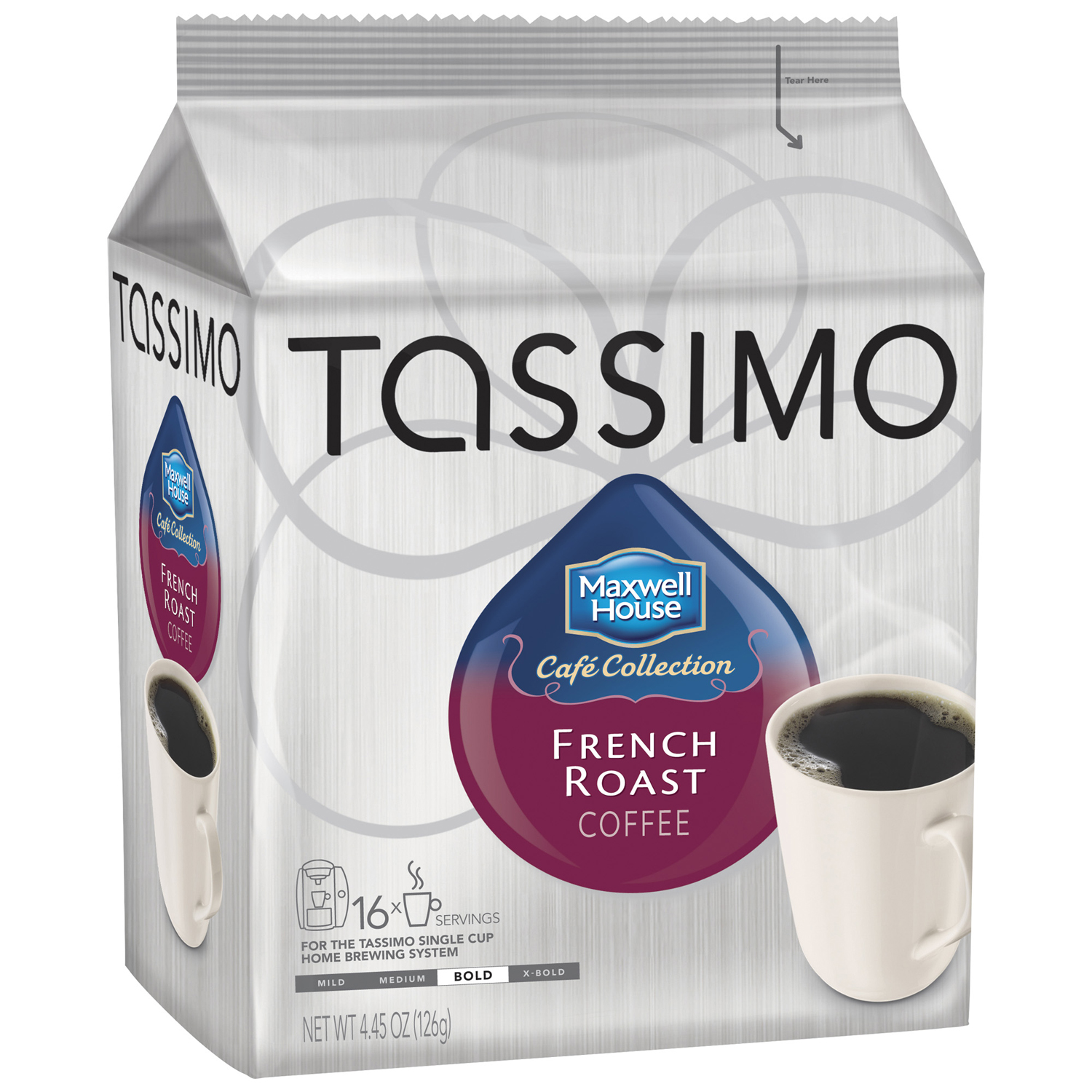 Tassimo Maxwell House Caf�� Collection French Roast Coffee T Discs 16 ct Bag