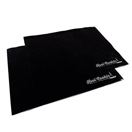 BBQ Grill Mat & Nonstick Oven Liner - Set of 2 Heavy Duty Cooking Mats Best For Charcoal Barbecue Grilling, Baking in Gas and Electric Ovens, Broiler Tray Liners, Reusable Dishwasher