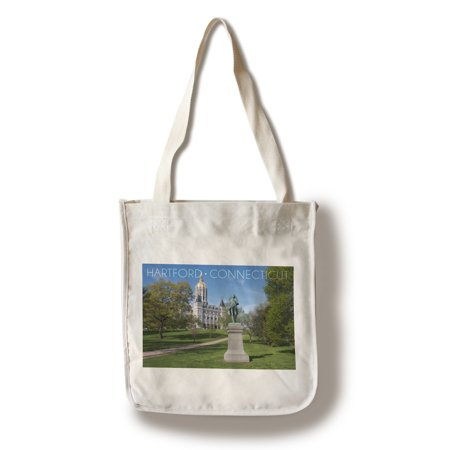 Hartford, Connecticut - Putnam Statue in Bushnell Park - Lantern Press Photograph (100% Cotton Tote Bag - - Putnam Den Halloween
