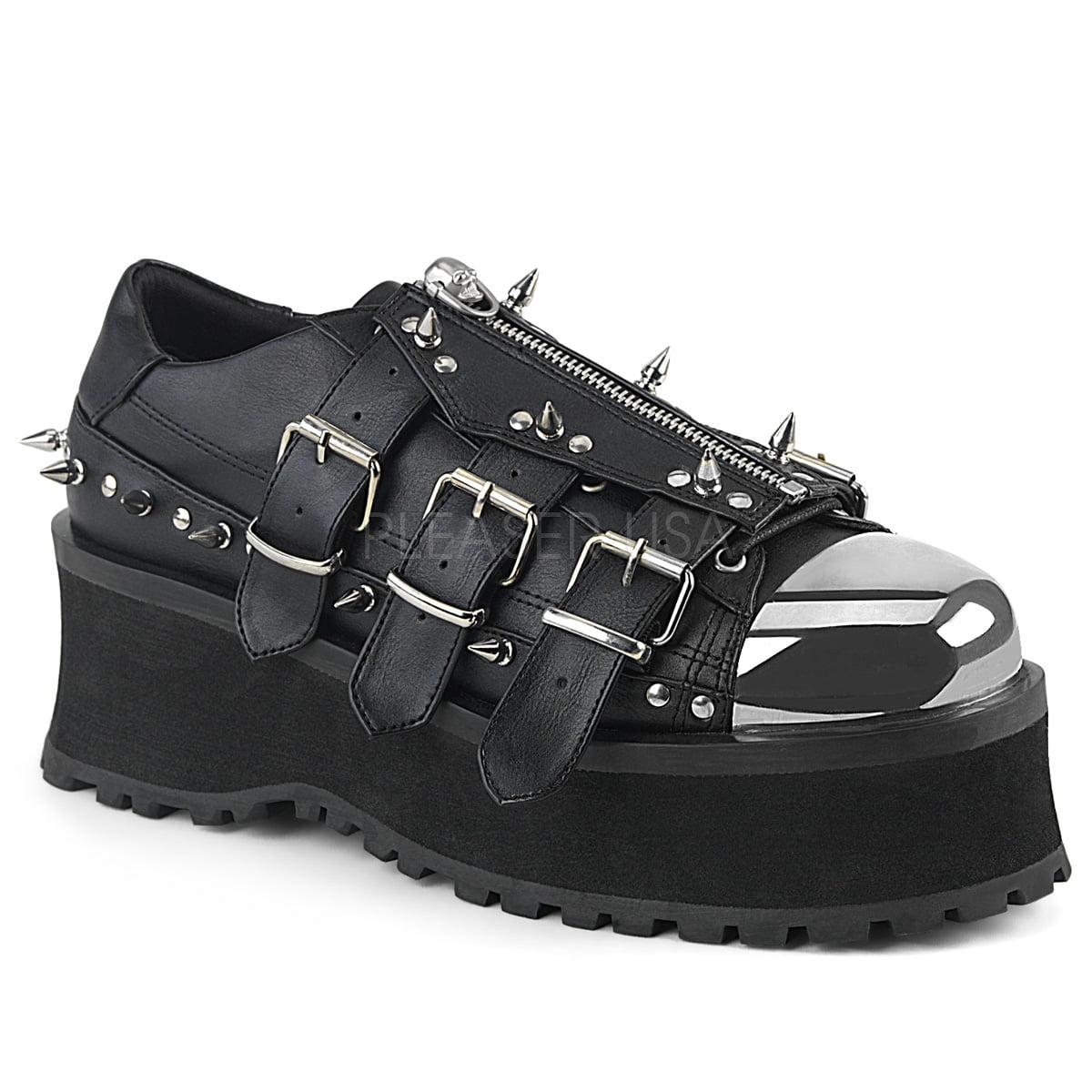 GRAVEDIGGER-03, 2 3/4'' Platform Lace-Up Shoe