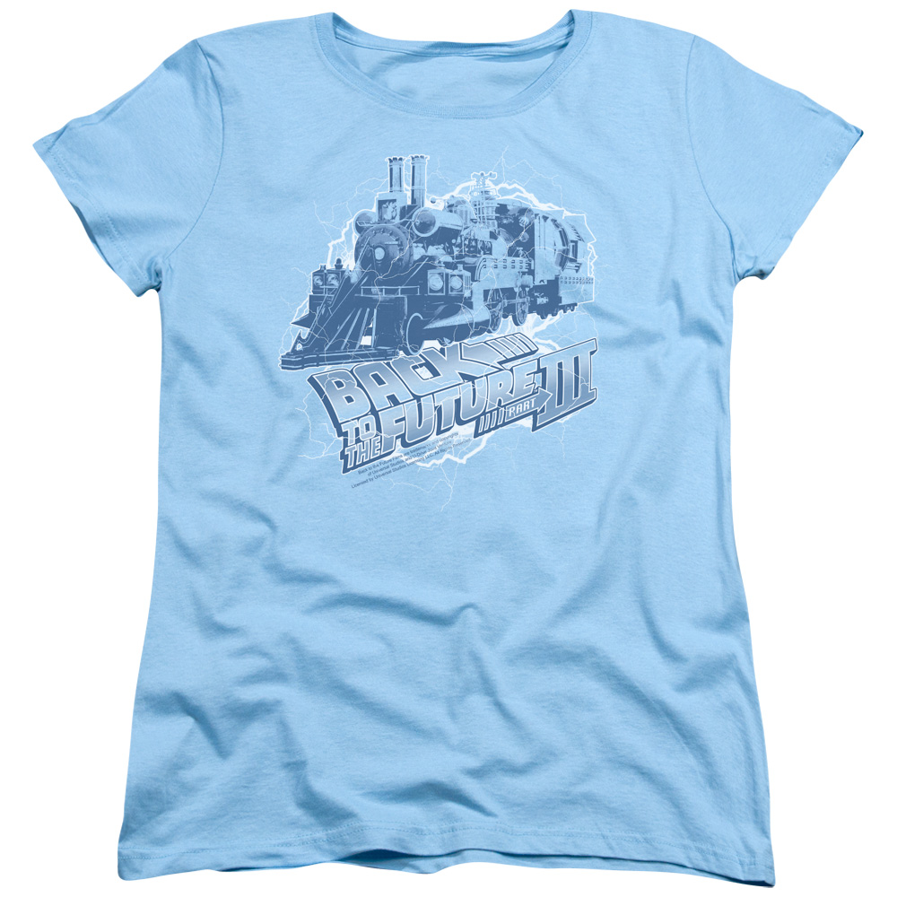 Back To The Future Iii Time Train Womens Short Sleeve Shirt