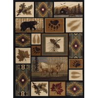Tayse NTR666058 Multi-Colored Nature Northern Wildlife 5 1/4' X 7 1/4' Southwestern