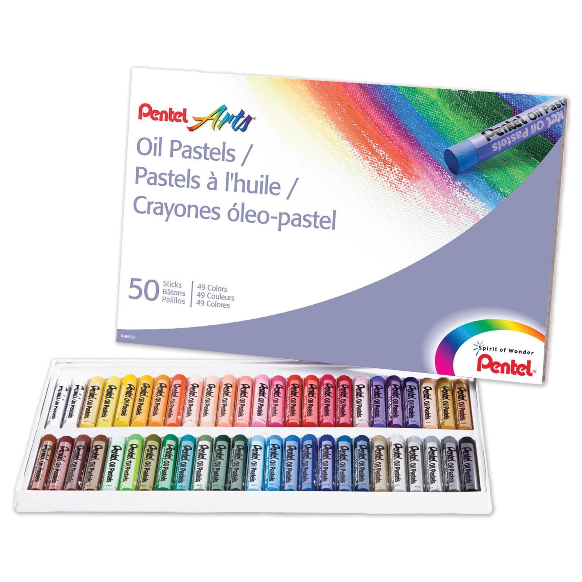 Pentel® Arts™ Oil Pastels, 50 Per Pack, 3 Packs