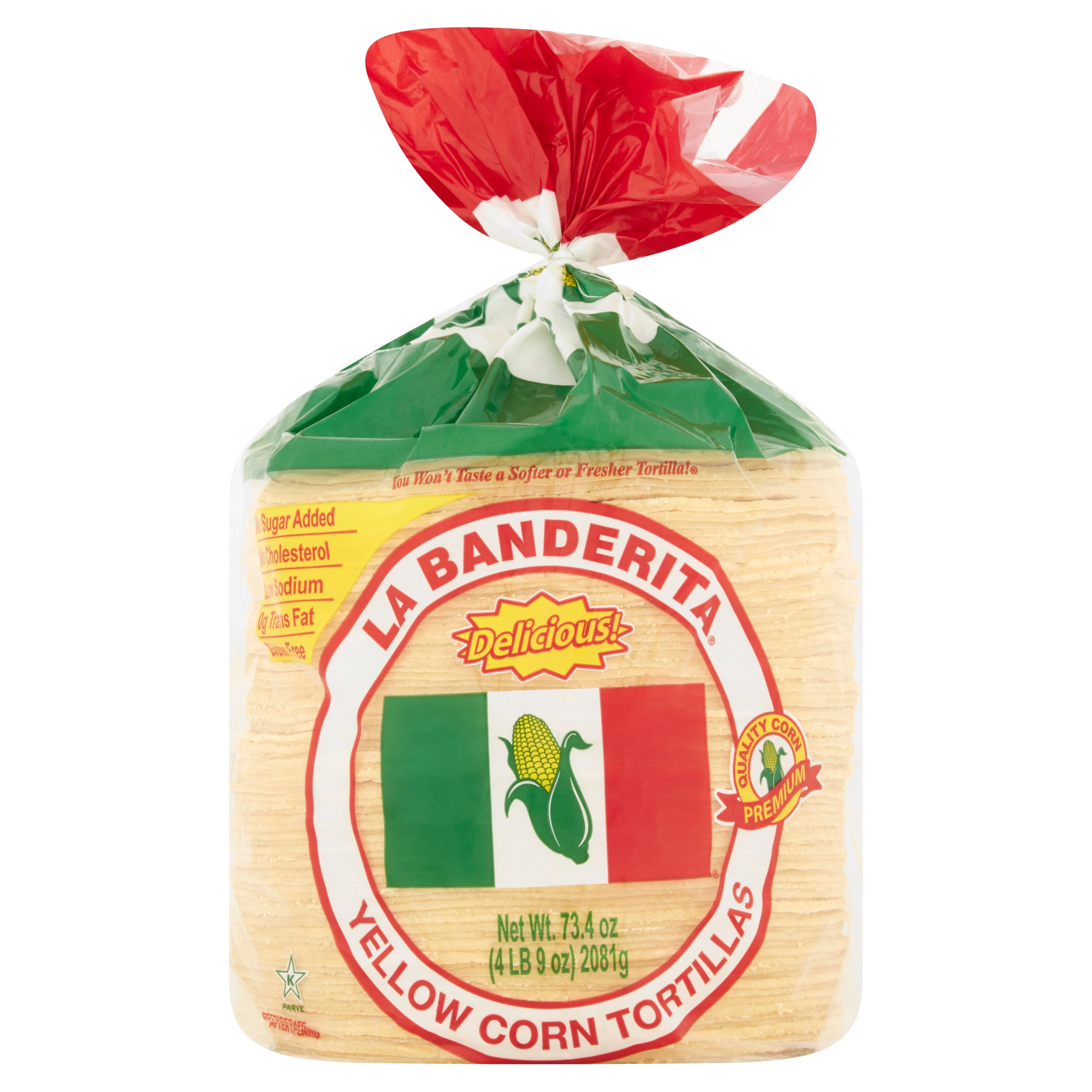 La Banderita Yellow Corn Tortillas, 73.4 oz