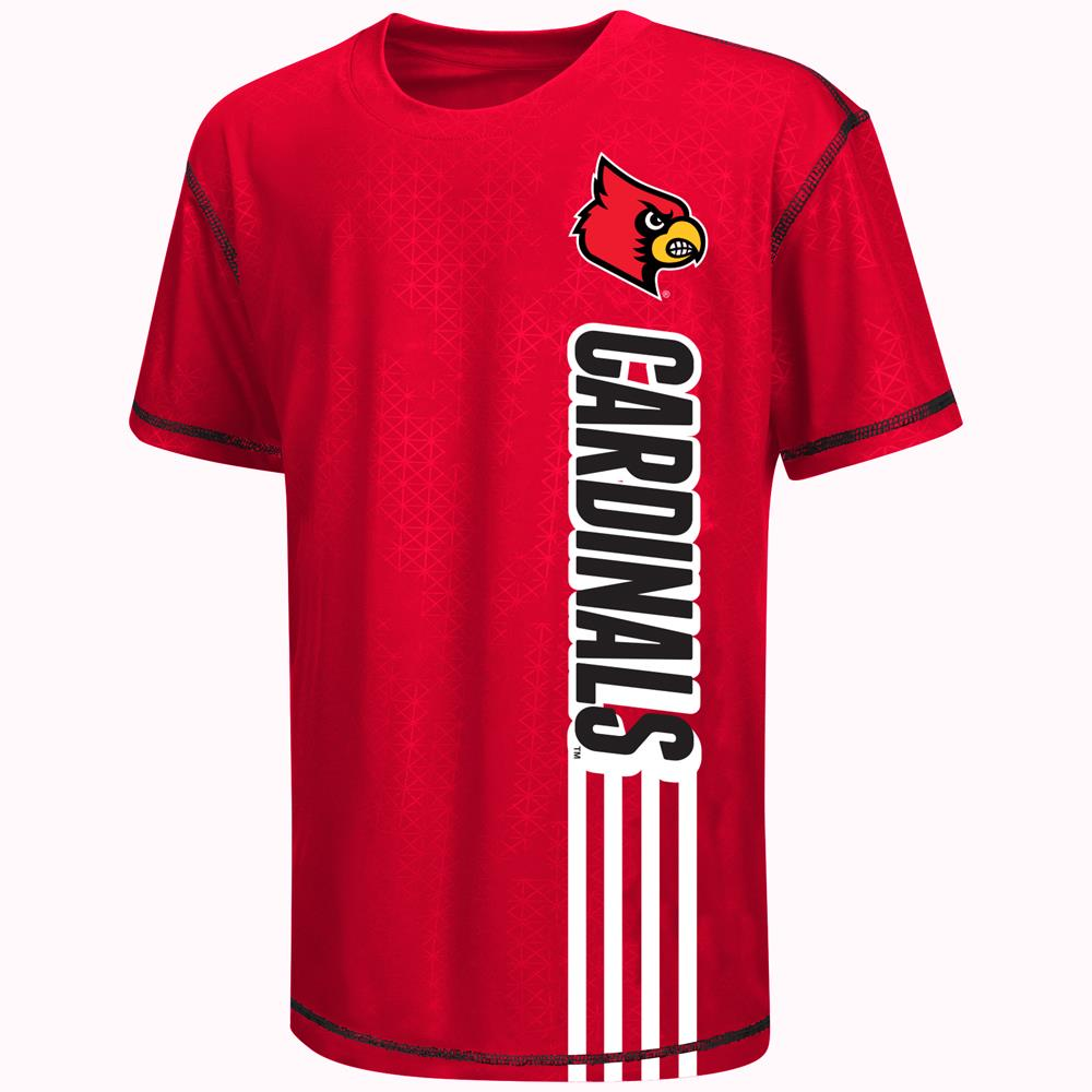 Youth NCAA Louisville Cardinals Short Sleeve Tee Shirt (Team Color)