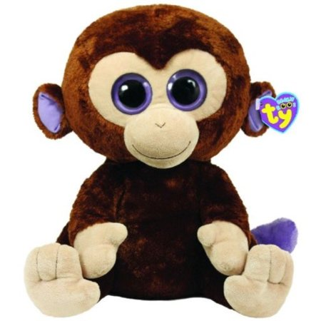 Ty Beanie Boos Coconut Monkey 42cm Plush, Large - Beanie Boo Coconut