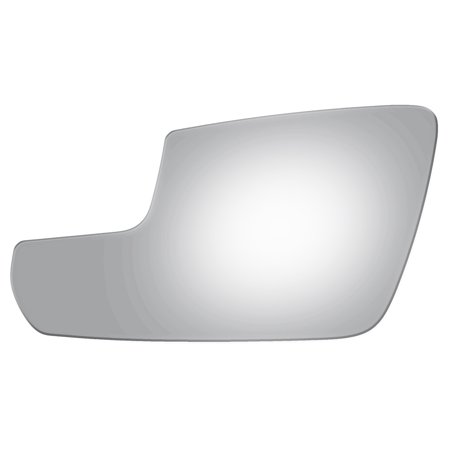 For 2011-14 Ford Mustang Driver Side Lower Flat Power Door Mirror Glass Lens Power Door Mirror Gloss