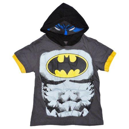 Batman Hoodie Mask (DC Batman Toddler Boys Costume Hoodie T-Shirt with)
