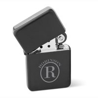 Personalized Wind Proof Matte Black Stainless Lighter -Engraved Wind proof Lighter