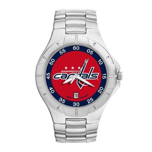 LogoArt NHL Men's Pro II Bracelet Watch with Full Color Team Logo Dial