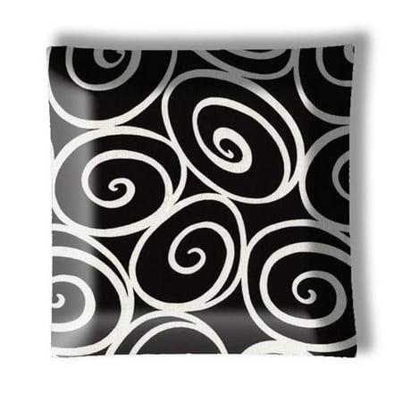 888 Cool Fans L-0001033 12 in. Designer Black & White Swirls Square Semi Flush Mount Ceiling Lamp (Designer Square Sonnenbrille)