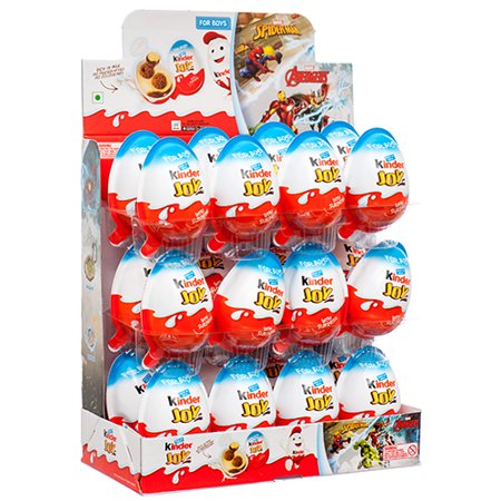 New 374447  Kinder Joy Surprise Egg Boy 24Ct (24-Pack) Chocolate Cheap Wholesale Discount Bulk Candy Chocolate](Candy Eggs)