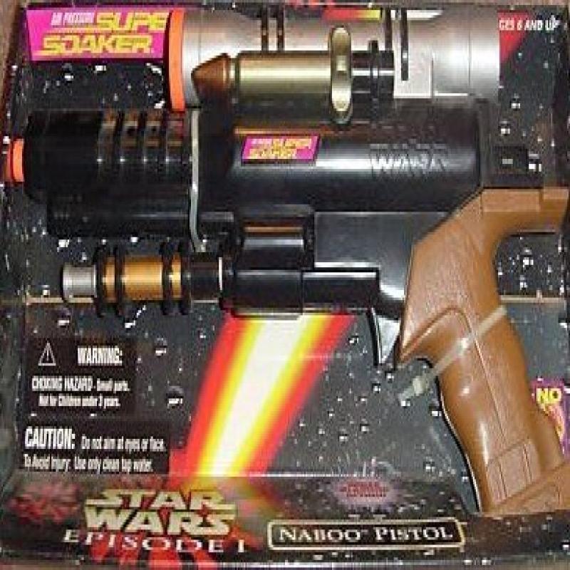 Naboo Pistol Air Pressure Super Soaker Star Wars Episode 1 ep1 by