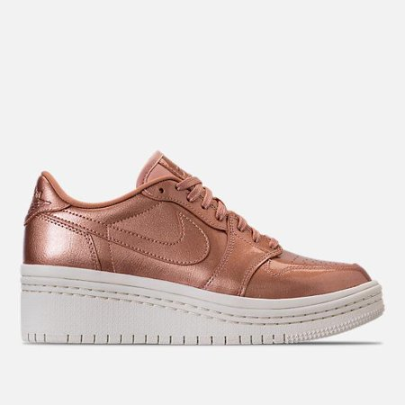 ed6969e7ad5 Nike - Womens Air Jordan Retro 1 Low Lifted Metallic Red Bronze Sail AO1334-9  - Walmart.com