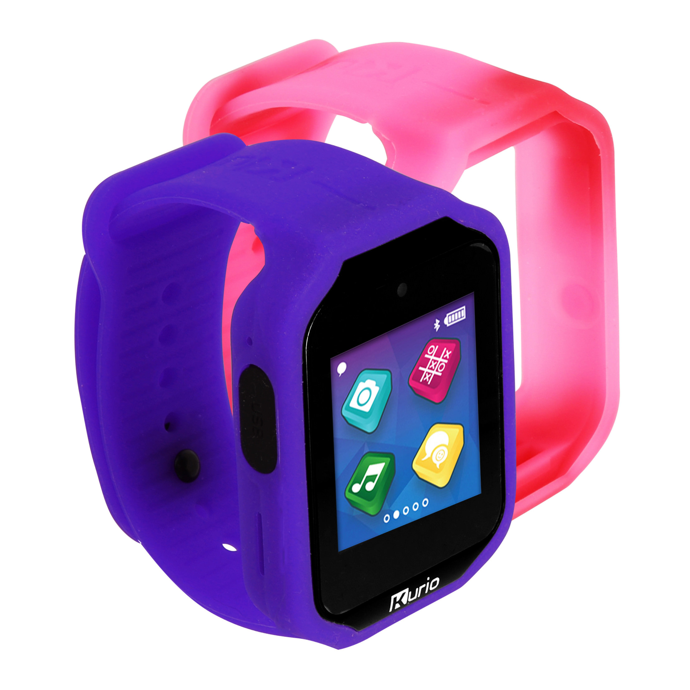 Kurio Watch 2.0+ Smartwatch Built for Kids with 2 Bands, Lavender and Color Change
