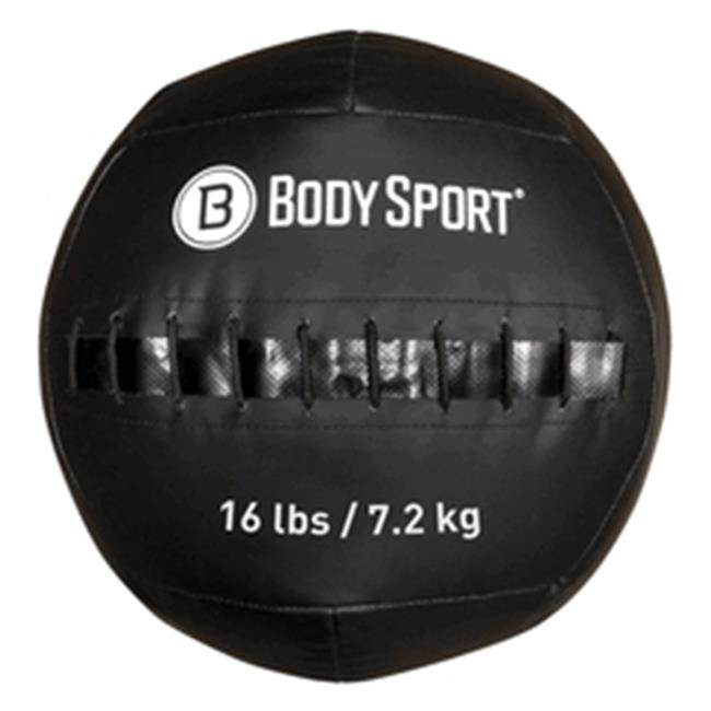 Body Sport ZZRMB16WB 16 lbs Wall Ball, Black