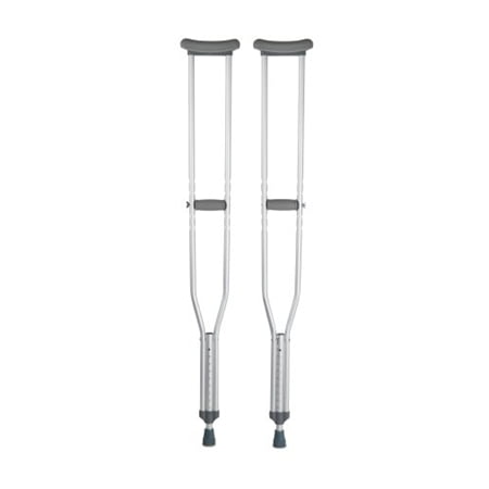 Underarm Crutch, Adult Tall Crutches, 350 lb. Capacity, Adjustable User Height 5