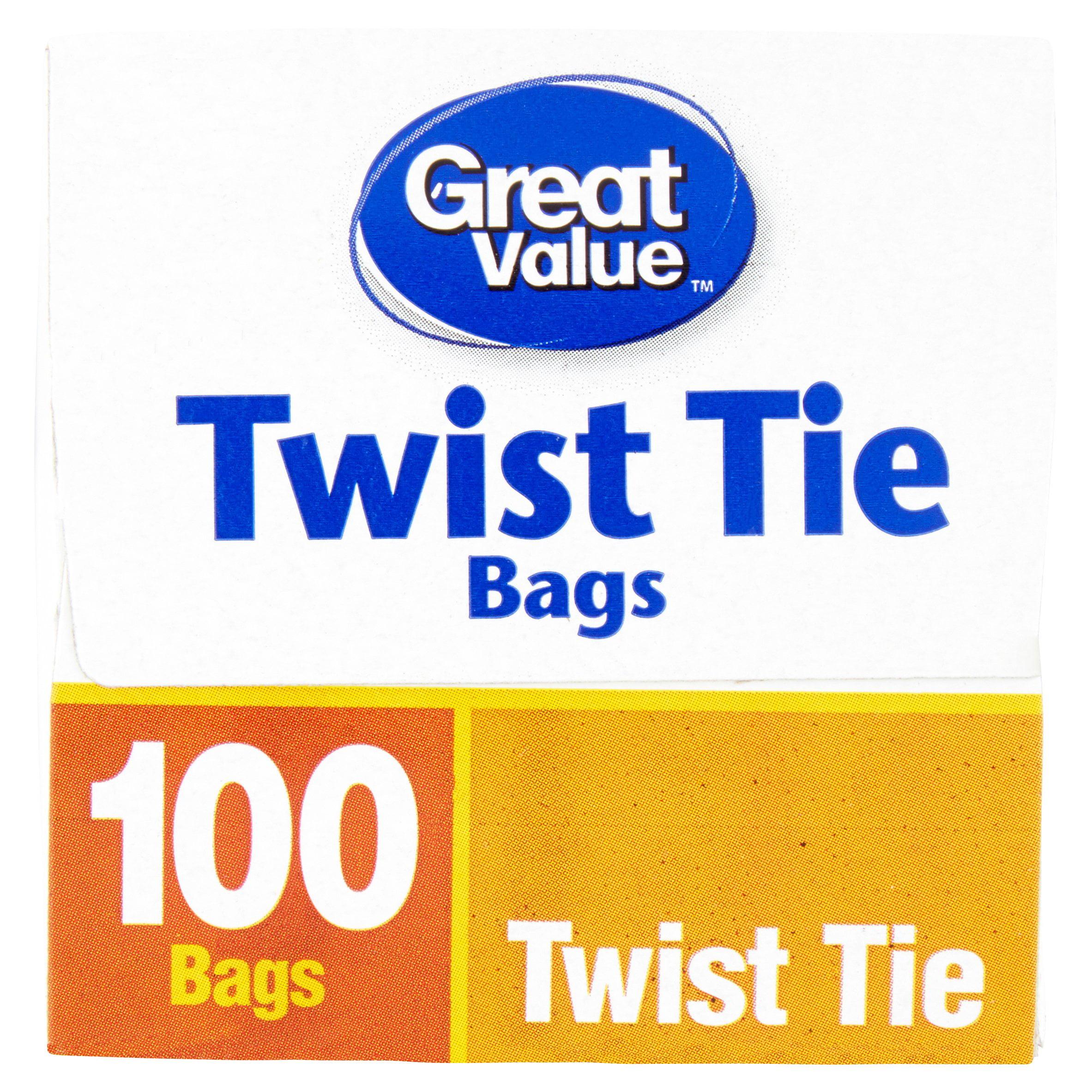 great value twist tie storage bags gallon 100 ct walmartcom - Bread Ties Color