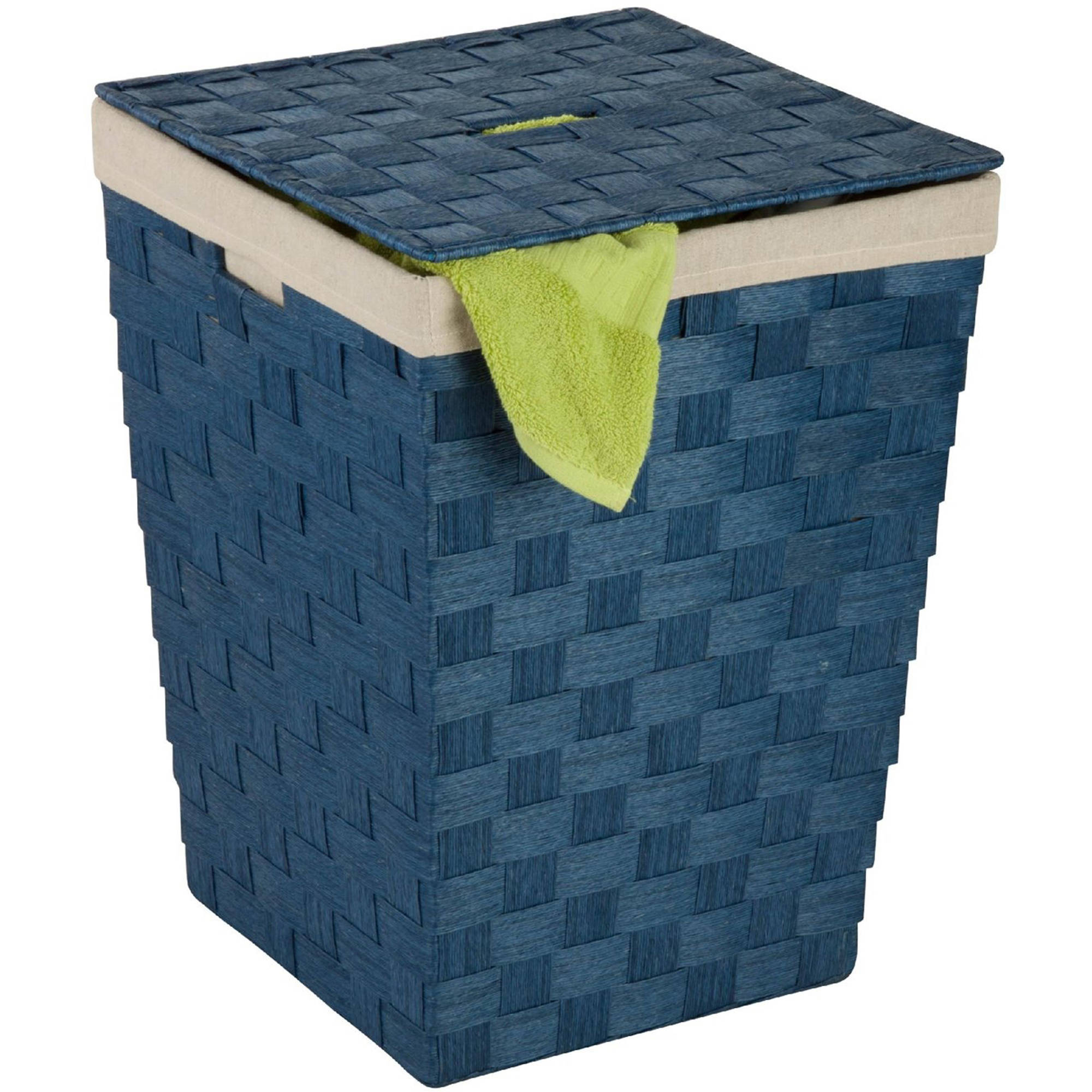 Honey-Can-Do Woven Laundry Hamper with Liner, Multiple Colors
