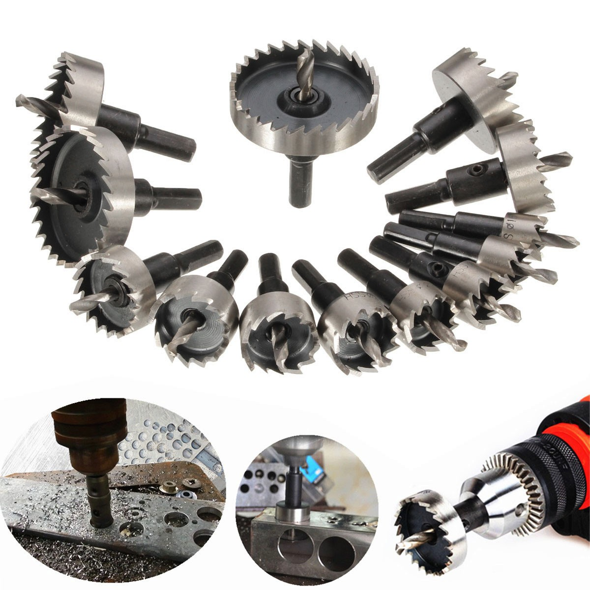 13pc Professional Hss Hole Saw Tooth Kit Hss Steel Drill Bit Set Cutter Tool For Metal Wood Alloy  5
