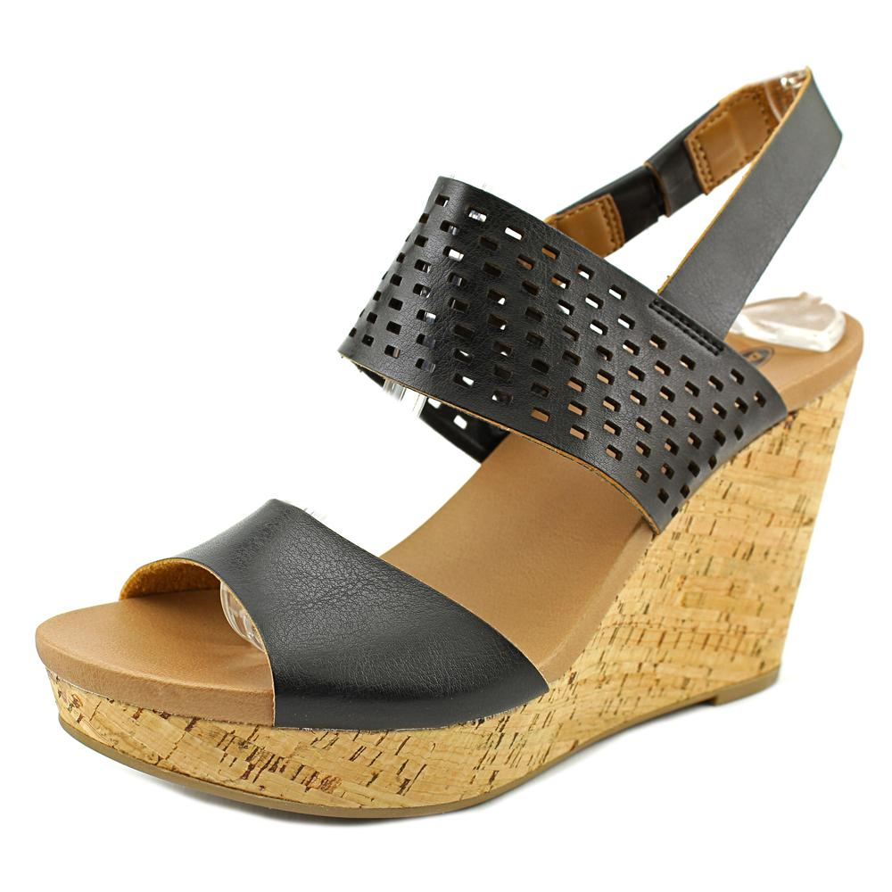 Dr. Scholl's Move It Women  Open Toe Synthetic Black Wedge Sandal