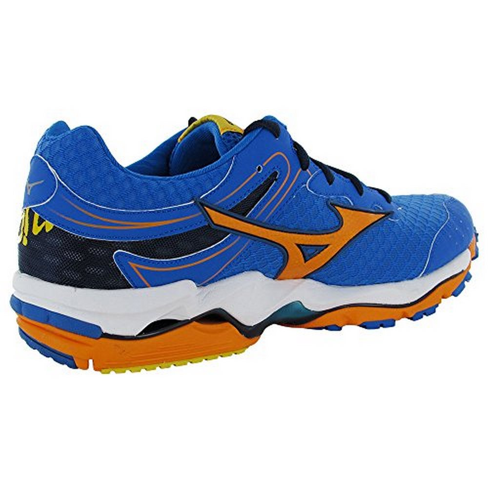 Mizuno Mens Wave Enigma 3 Running Sneaker Shoes, Blue/Ora...