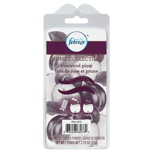 Febreze Home Collection Wax Melts, Rosewood Plum, 6 Pack