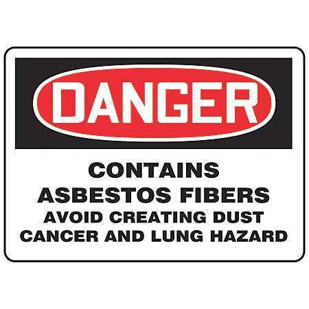 "Danger Sign, Accuform Signs, MCAW025VS, 7""Hx10""W"