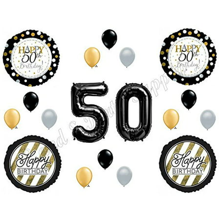 Over The Hill Balloons (50th Fifty Happy Birthday Party Balloons Decoration Supplies Over The Hill)