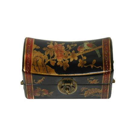 Oriental Furniture Flowers Pillow Jewelry Box