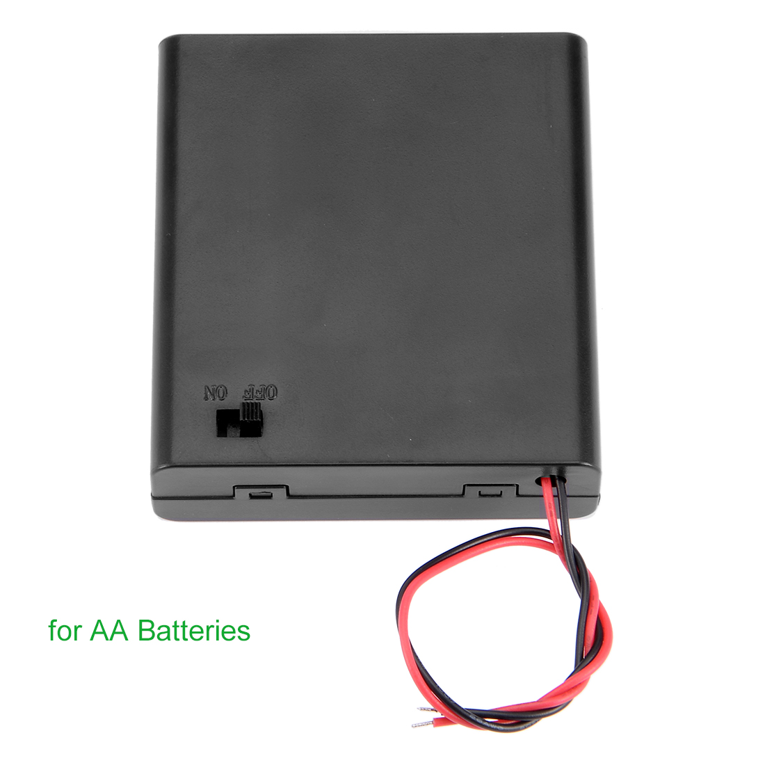 Unique Bargains 10 Pcs 6V Battery Case Storage Box 4 x 1.5V AA Batteries ON/OFF Switch w Cover - image 4 of 5