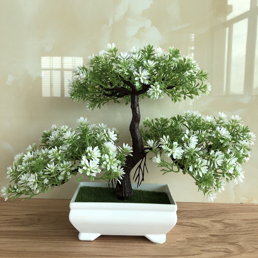 New Ganoderma Tree Lotus Pine Tree Simulation Plant Flower Bonsai Set Small Potted Green Plant Home Decor Table Top Decoration Crafts Walmart Com Walmart Com