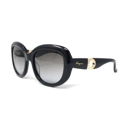 Salvatore Ferragamo Glasses (Salvatore Ferragamo Sunglasses Oval SF727S 001 BLACK)
