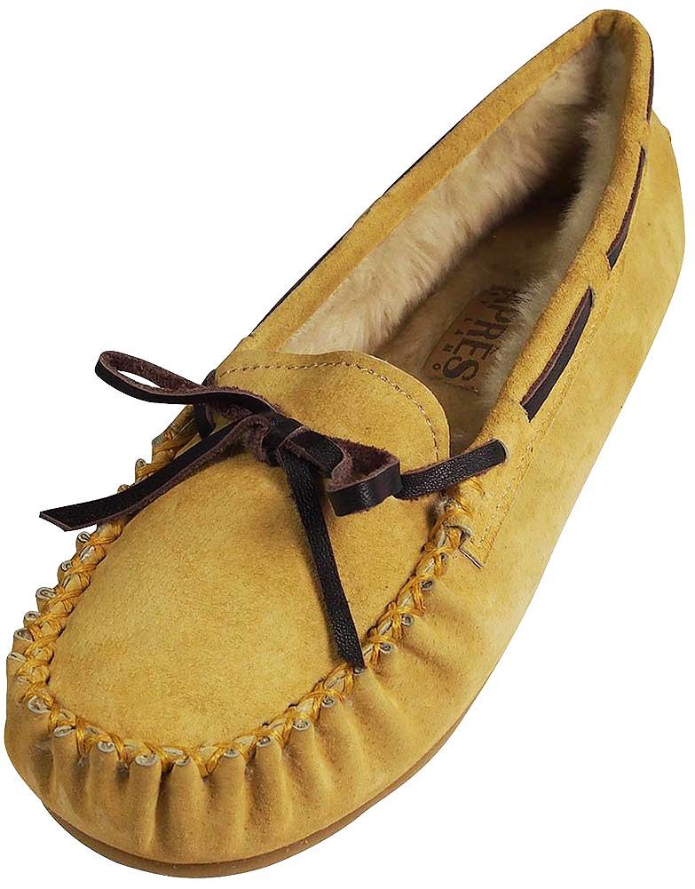 Apres Lamo Womens Apr?s Moccasin Slipper YELLOW   7 B(M) US by Lamo