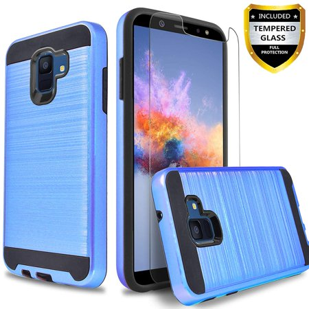 Samsung Galaxy J2 Core Phone Case, 2-Piece Style Hybrid Shockproof Hard Case Cover with [Tempered Glass Screen Protector] And Circlemalls Stylus Pen